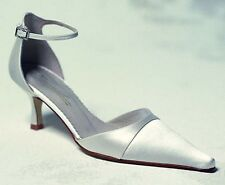 Ivory Silk Satin Brides Bridal Shoes UK 5.5 BNIB Gabriella & Lucido