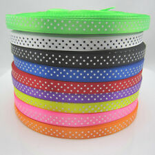 Free shipping 450 Yards 3/8 9mm Polka Dot Ribbon Satin Craft Supplies Mix color