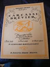 Partition Guitare Carcassi Brevier N°4 E Schwarz Reiflingen
