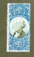 US Stamps # R121 $1 Revenue FVF A Beauty Scott Value $800.00