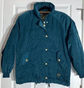 Vintage Descente Ski Jacket Size 10 Women's Sueded Nylon 80s Ski Bunny