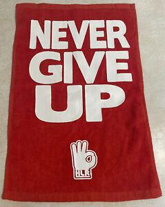 John Cena HLR Never Give Up Red Towel (J21D)