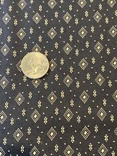 1800's Reproduction Cotton Fabric  Paula Barnes, Indigo & Claret Dark Gray