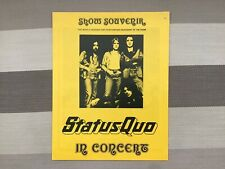 More details for status quo in concert show souvenir - 1970's great condition. rare