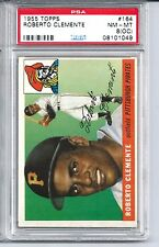 1955 Topps Baseball #164 Roberto Clemente Rookie Card PSA NM-MT 8 (OC)