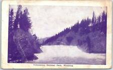 Yellowstone National Park Wyoming Postcard River / Rapids Scene c1910s Unused