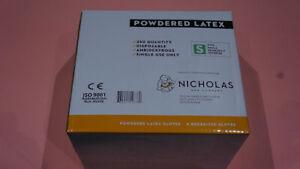 NICHOLAS & COMPANY 1000 POWDERED LATEX AMBIDEXTROUS FOODSERVICE GLOVES S 4*250