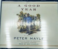"""""""A Good Year"""" a Novel by Peter Mayle Four Audio CD's (eBook) Read by Ben Chaplin"""
