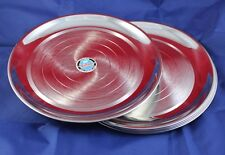 Stainless Steel 6 Dinner Plate Set- Lot of 6 Plates Heavy Steel,Dinning Room