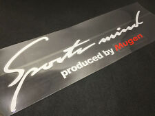 1Pcs White Sports Mind Produced By Mugen Auto Machine Cover Lamp Brow Stickers