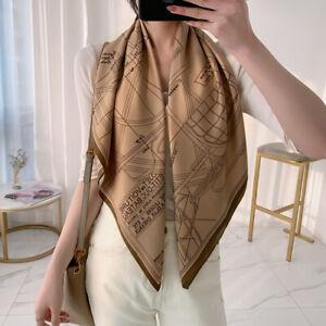 Imitate Twill Silk Scarf Women Fashion Carriage Print Shawl Hijab Bandana 90cm