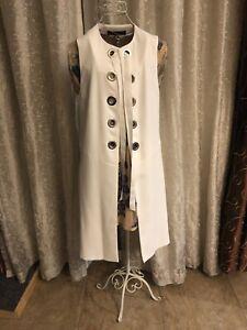 Zara White Vest Size Small