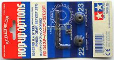 """Tamiya 1/10 RD 0,4 Steel Pinion Gear Set 22T & 23T (Ritzel) """"NEW"""" 53102"""