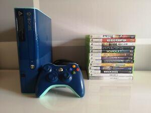 Xbox 360 E Console Blaue Edition mit Controller und 13 Spielen