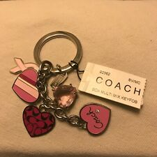 "Rare- Coach ""Breast Cancer Valentine Mix"" Keychain - New with Tags"