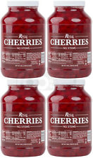 4 Case 1 Gallon Maraschino Cherries Without Stem Case Ice Cream Topping Cocktail