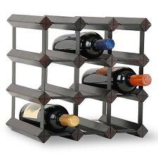 Weinregal Regal 12er erweiterbar Weinschrank Flaschenregal Ständer Holz NEU