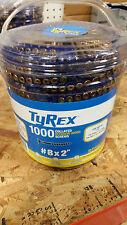 Senco Tyrex 8 2 2 Square Yellow Zinc Collated Screws Scs8200 1000 Pack