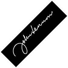 John Lennon Signature sew-on cloth patch   (ro)