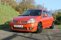 2005 Renault Clio 182 CUP, Inferno Orange - NEW CAMBELT + DEPHASER