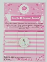 How Big Is Mummy's Tummy ? Baby Shower 24 Player Game Tape measure - Baby Girl