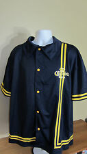 NWT Large Corona Extra Short Sleeve Button Snap Front Athletic Warm Up Shirt XL