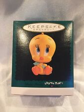 Baby Tweety Bird 1996 Hallmark Mini Christmas Ornament - Looney Tunes Lovables