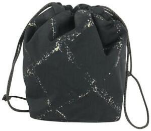 Chanel Black Graffiti Mini New Line Drawstring Bucket Pouch 93cas100
