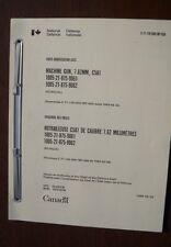 Browning 1919 Canadian C5A1 Variant Bi-Lingual French/English manual