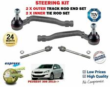 FOR PEUGEOT 308 + SW 2013-> 2X OUTER + 2X INNER STEERING RACK TRACK TIE ROD ENDS