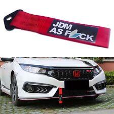 Racing Car Bumper Towing Hook JDM AS Drift Decal Tow Strap Hauling Belt Tow Rope
