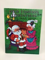Old Fashion Christmas Holiday Coloring Book Landoll New 80s Craft Vintage 1989