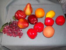 Artificial Fake Fruit 20 pc Lot - Apples Lemon Grapes Banana Play Staging Prop