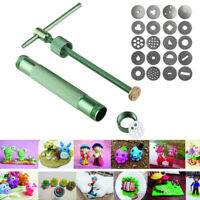 Portable Polymer Clay Extruder Sculpey Sculpting Tool + 20 Interchangeable Discs