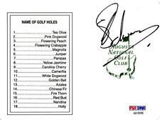 Charl Schwartzel Signed Augusta National Masters Scorecard - Fanatics