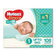 Huggies Ultimate Nappies,Unisex,Size 1 Newborn (Up To 5kg) Baby Disposable Diape