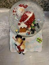Pier 1 Musical Snow Globe Merry Christmas Plays Jingle Bells Nib