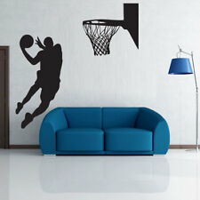 Basketball Player Slam Dunk Wall Decal Sports Sticker Poster Boys Bedroom Dorm