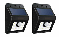 2x Motion Sensor Bright White 8 SMD Solar Powered Outdoor Wall Security Lights