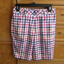Women's Lady Hagen golf shorts window pane multi color size 0 brand new Nwt $55