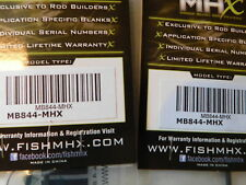 2 MHX   MB844 7' 12 -20 lb 1pc. spinning blank color is slate for rod building