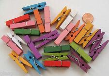 25 PINCES A LINGE BOIS 35x7mm mix couleurs aléatoires  DIY Déco loisirs