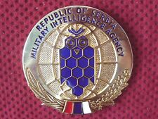 SERBIA - SERBIAN ARMY - MILITARY INTELLIGENCE AGENCY PLAQUE - RRR