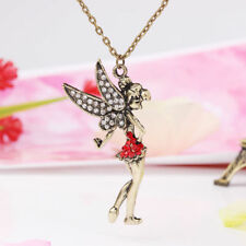 Tinkerbell Peter Pan Theme Necklace Sweater Chain Fairy Rhinestone Jewelry Magic