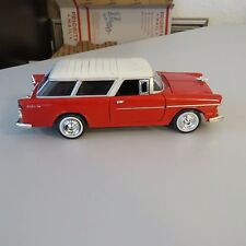 1955 BEL-AIR NOMAD 1:24 SCALE DIECAST RED AND WHITE