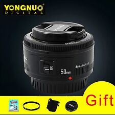 YONGNUO YN50mm F1.8 Lens Large Aperture Auto Focus Lens F Canon EOS Camera+4Gift