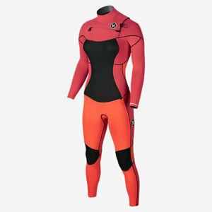 NEW $380 Womens Hurley Phantom 202 Full Wetsuit Lava Glow Size 6 + Garment Bag