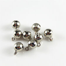 100pcs Antique Silver Mini Jingle Bell Brass DIY Pendants Charms Ctafts 52450