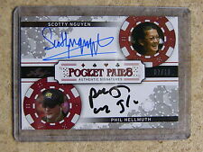 2011 Leaf Razor Poker PHIL HELLMUTH / SCOTTY NGUYEN Pocket Pairs Black /10