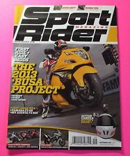 SPORT RIDER MAGAZINE SEPT/2013...THE 2013 'BUSA PROJECT: FIRST RIDES+EASY MODS